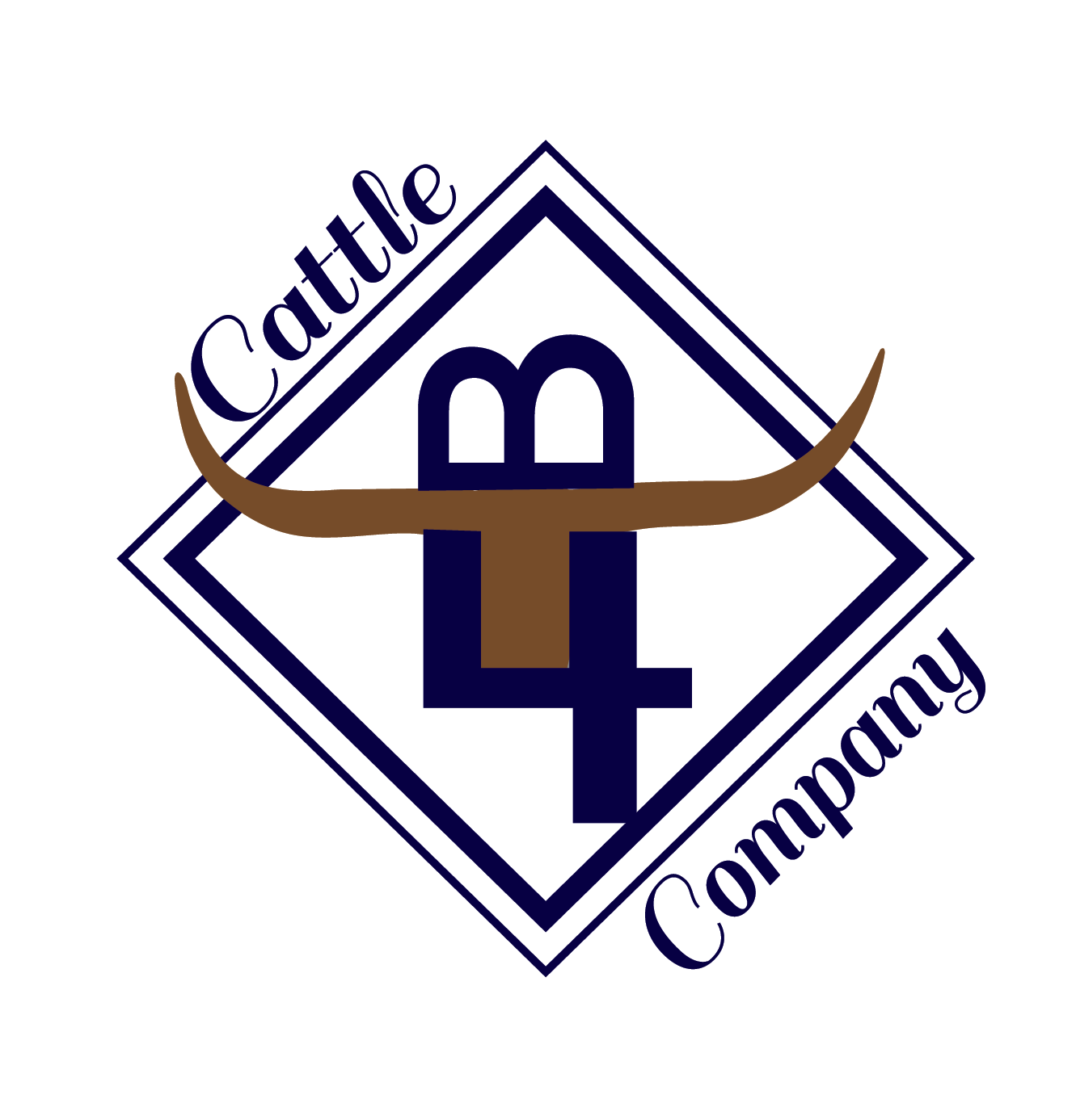 B4 Cattle Compnay Longhorns Logo